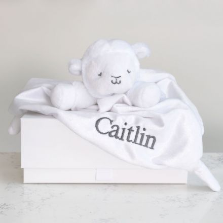 Personalised Little Lamb Baby Comforter